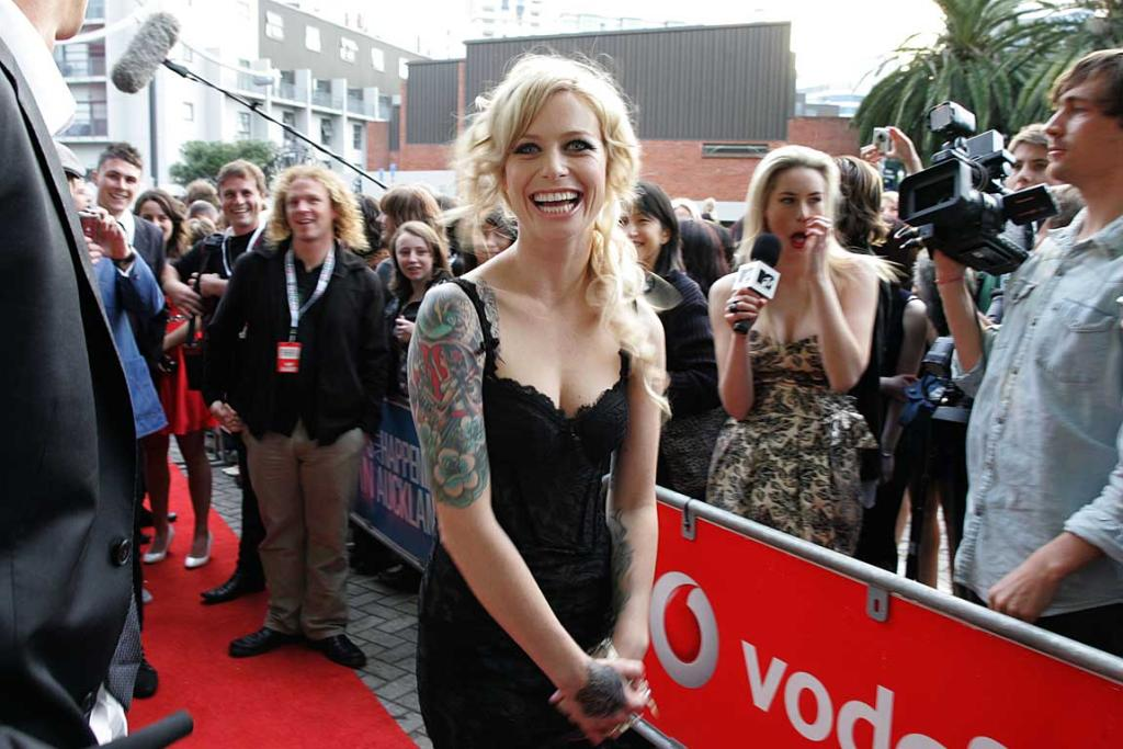 Gin Wigmore hits the red carpet at the New Zealand Music Awards.