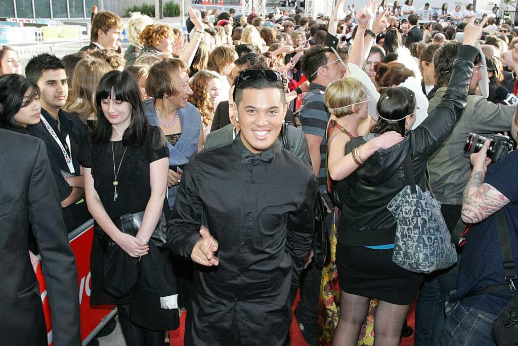 Stan Walker hits the red carpet at the New Zealand Music Awards.