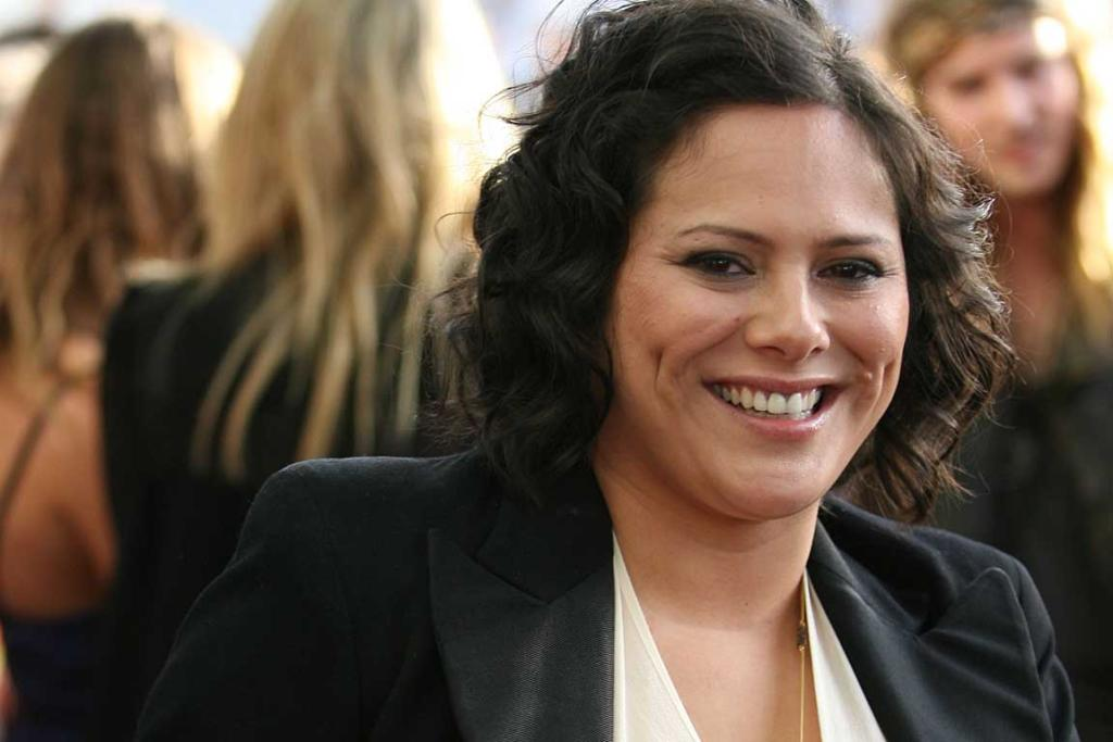 Anika Moa hits the red carpet at the New Zealand Music Awards.