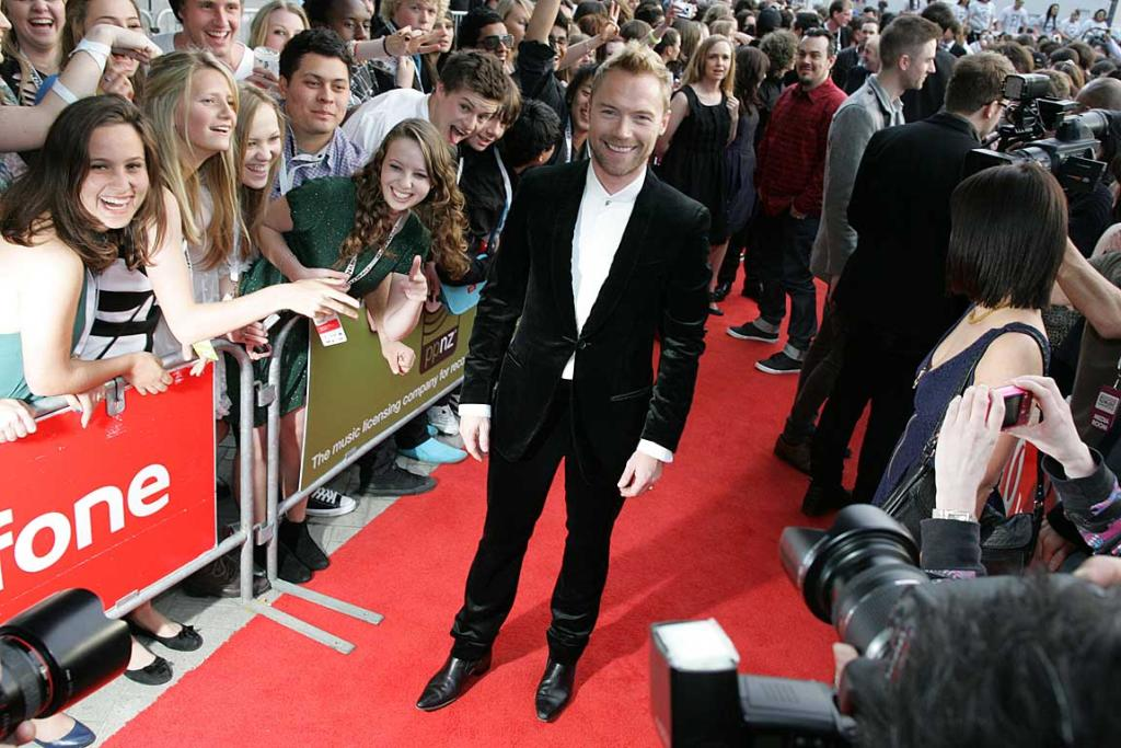 Ronan Keating poses on the red carpet at Vector Arena before the New Zealand Music Awards.
