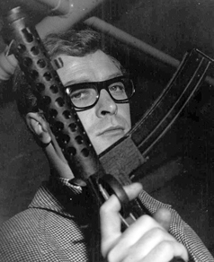 Wearing his 1960s trademark spectacles in  <i>The Ipcress File</i>.