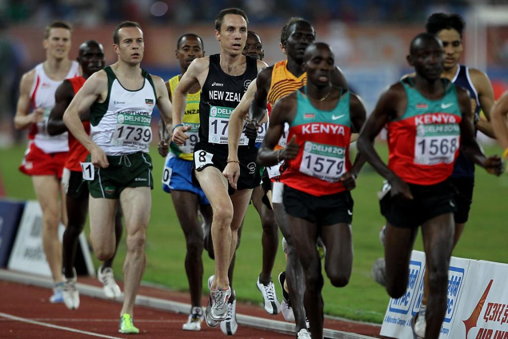 New Zealand's Nick Willis runs in a heat of the men's 1500m at the Commonwealth Games in Delhi.