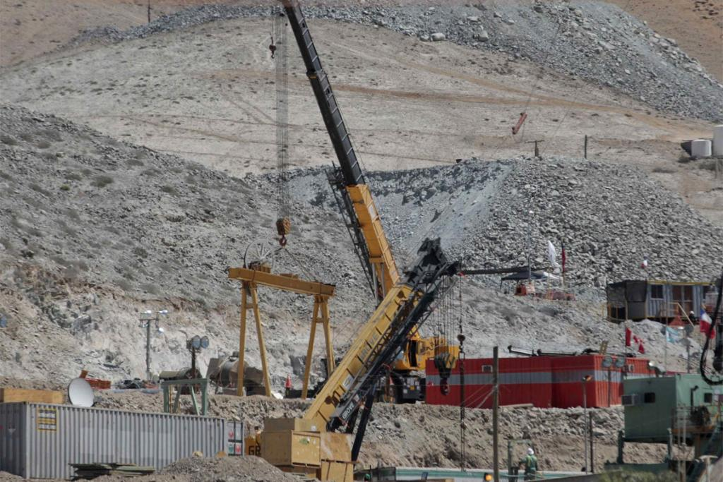 RESCUE: A general view of the area at the San Jose mine in Copiapo.