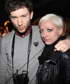 BEST OF THE BLOGGERS: New Zealander Isaac Hindin Miller and Canadian Casie Stewart at Nom*D's after-party at New Zealand Fashion Week.