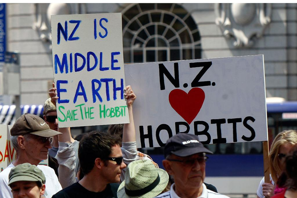 LAST WORD: Fans show their support for The Hobbit in Auckland.