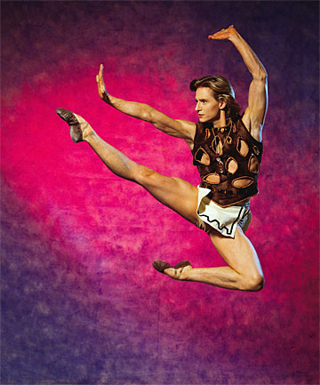 GIANT LEAP: Top American ballet dancer Ethan Stiefel in Prodigal Son. He is to be the Royal New Zealand Ballet's next artistic director