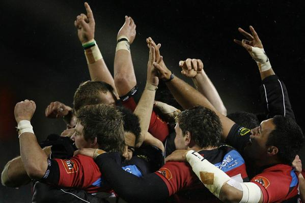 Canterbury players celebrate