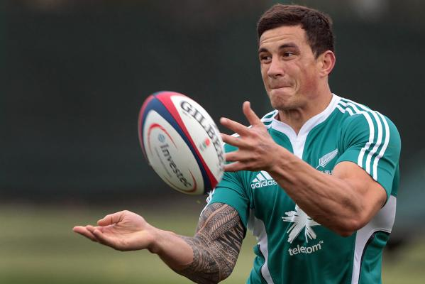 Sonny-Bill Williams during an All Blacks training session ahead of their test against England at Twickenham.