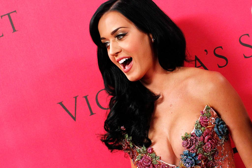 NO NERVES: Katy Perry arrives at the Victoria's Secret Fashion Show in New York.