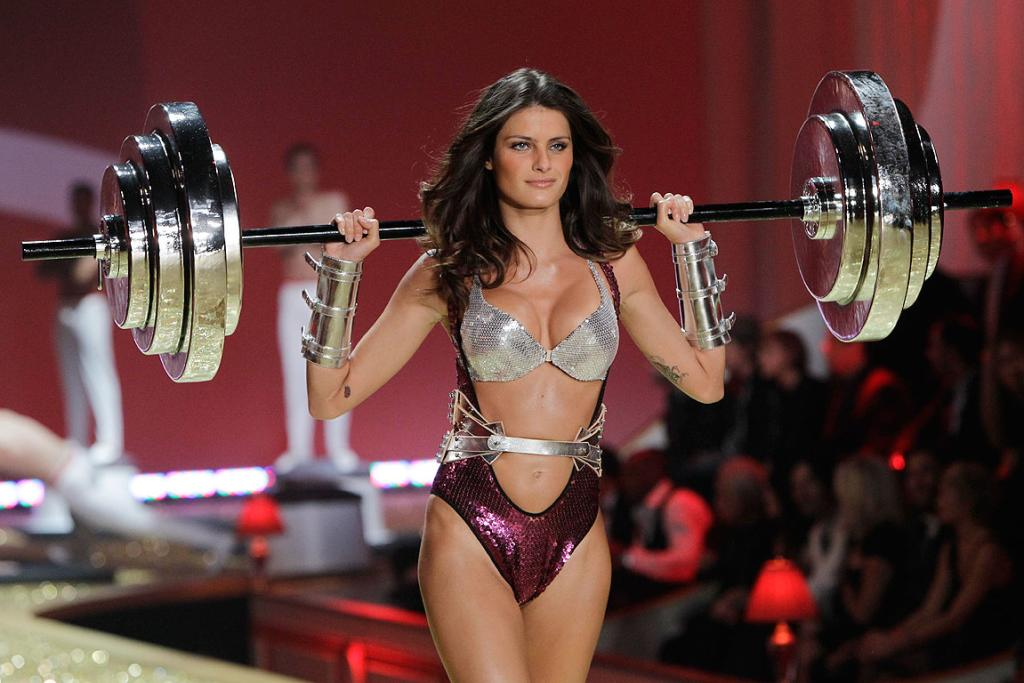 WORK OUT: A model presents a creation during the Victoria's Secret Fashion Show.