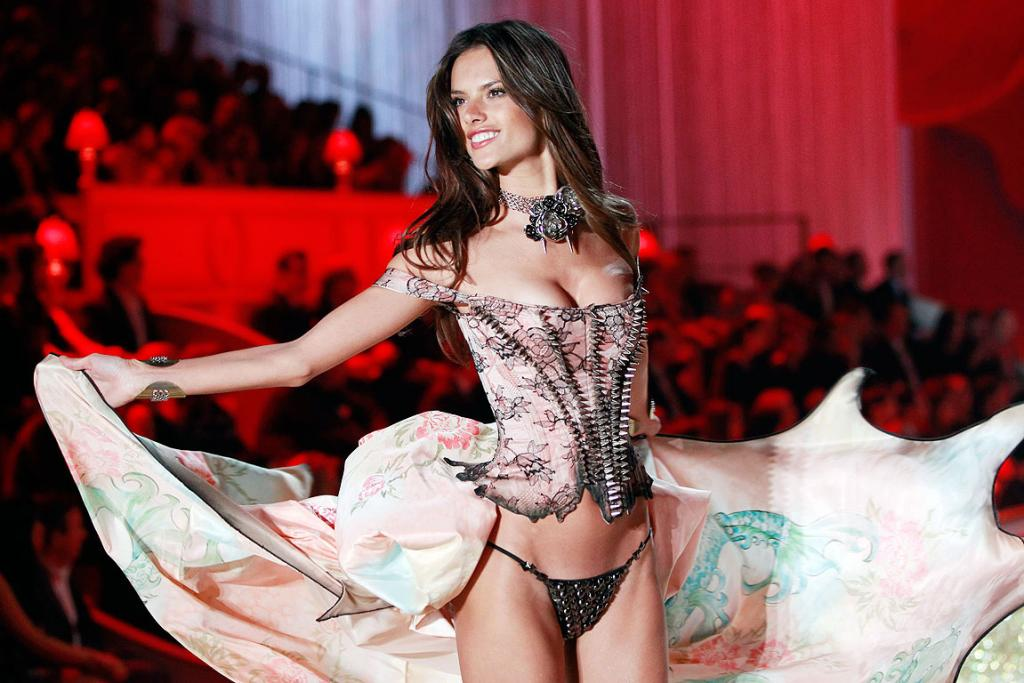 SWINGING AROUND: A model presents a creation during the Victoria's Secret Fashion Show in New York.