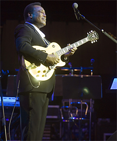 George Benson entertains at the Christchurch Town Hall.