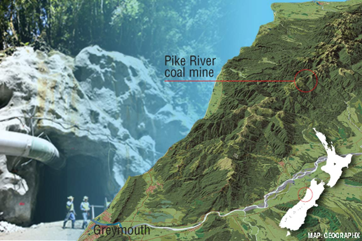 Pike River Coal Mine location