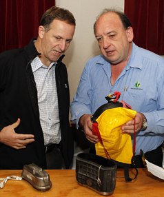 Prime Minister John Key with Pike River Coal's CEO Peter Whittall.