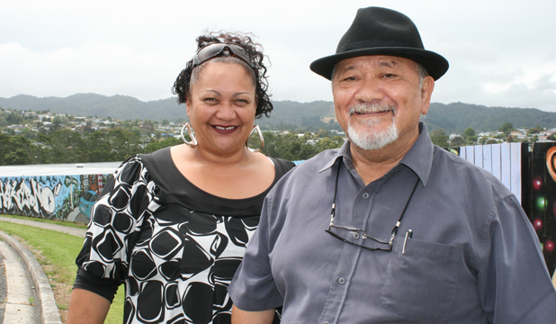COMMUNITY COMMUNICATION: Kim Anderson and Hohepa Rudolph want to share the history of the Raumanga area with their neighbours.