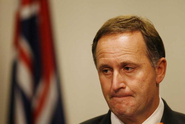 ANGUISH: Prime Minister John Key holds a press conference after the second explosion at Pike River mine where no miners have survived.
