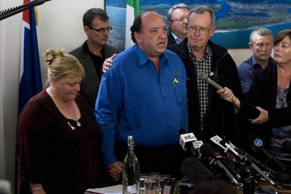 END OF HOPE: Pike River chief executive Peter Whittall holds a press conference were he said that a second explosion has blasted the Pike River coal mine, with none of the 29 trapped miners able to survive it.