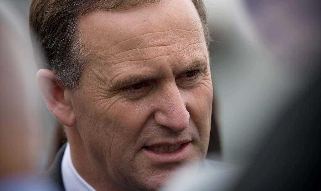 John Key arrives in Greymouth to speak to families of mine victims