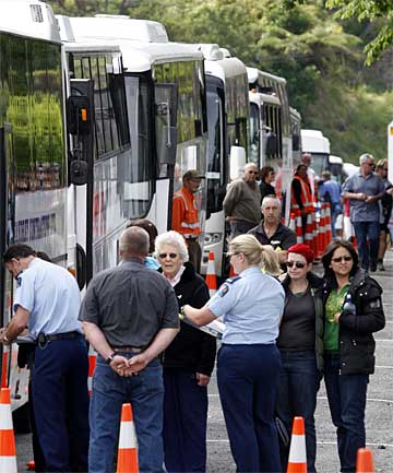 GRIEF: The families of the lost Pike River miners have visited the mine this morning.