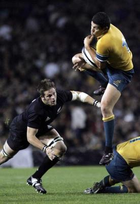 Richie McCaw ready to pounce.