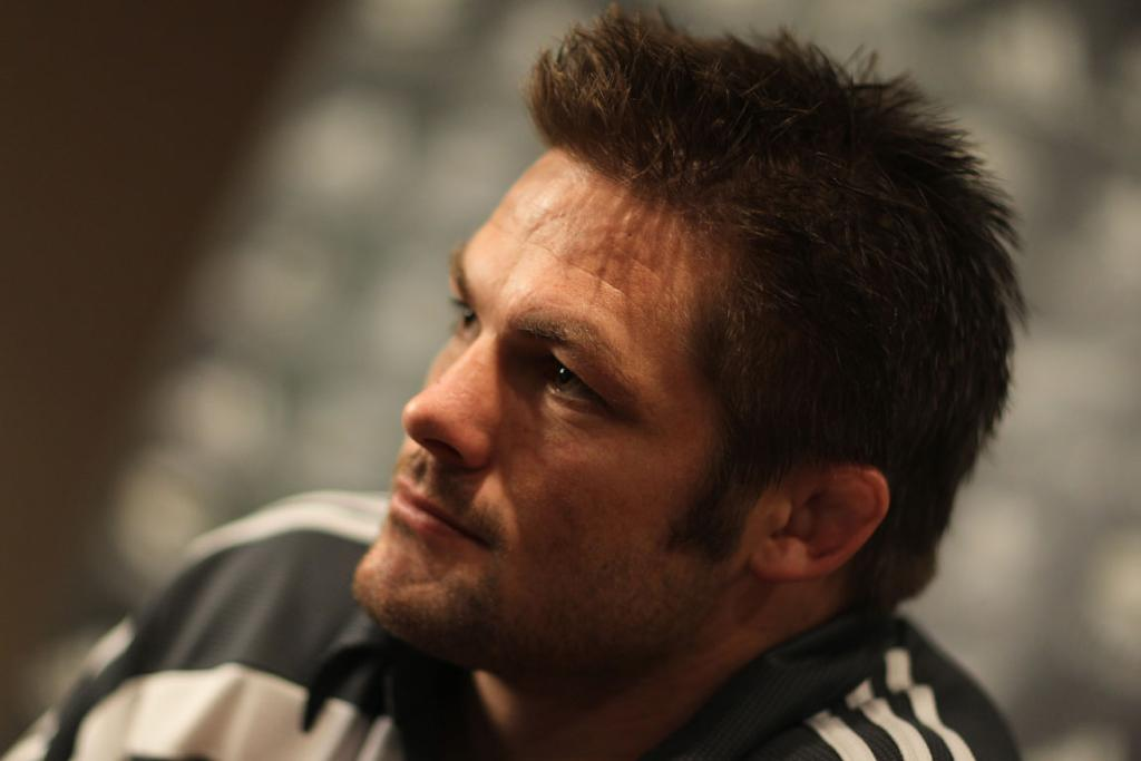 CAPTAIN: McCaw speaks to media at Royal Garden Hotel in London.