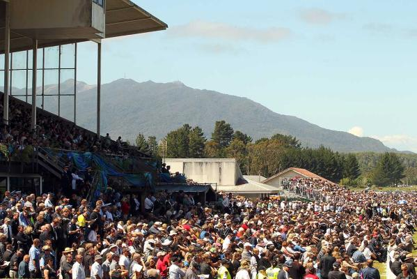 Thousands gathered at the Omoto Racecourse to remember the 29 dead Pike River miners.