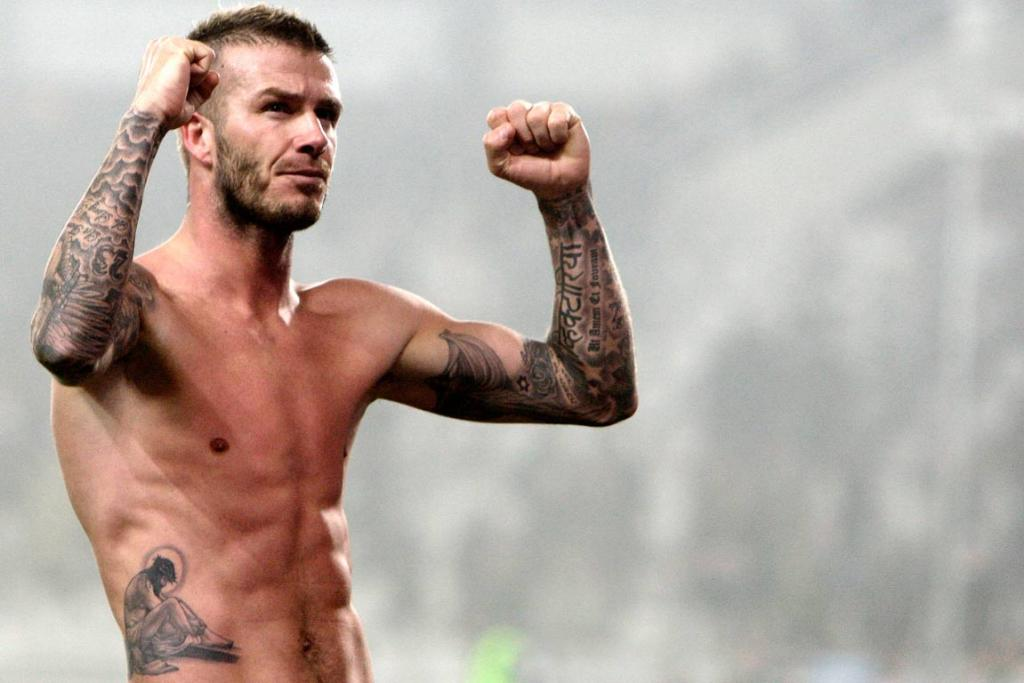 Reuters Images of the Year, photo of Daivd Beckham celebrating.