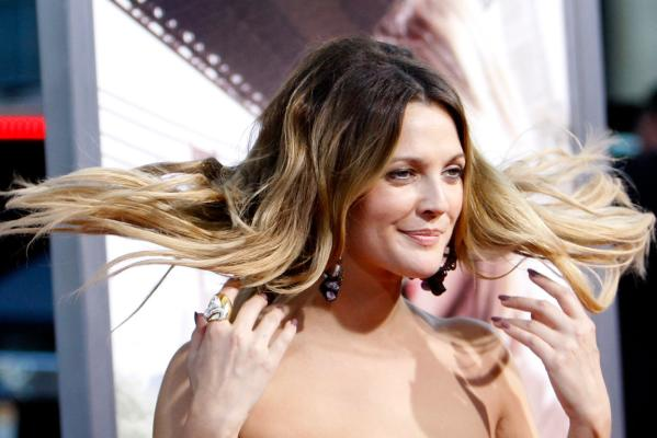 Reuters Images of the Year, photo of Drew Barrymore flicking her hair.