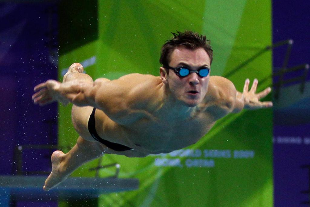 Reuters Images of the Year, photo of diver in midair.