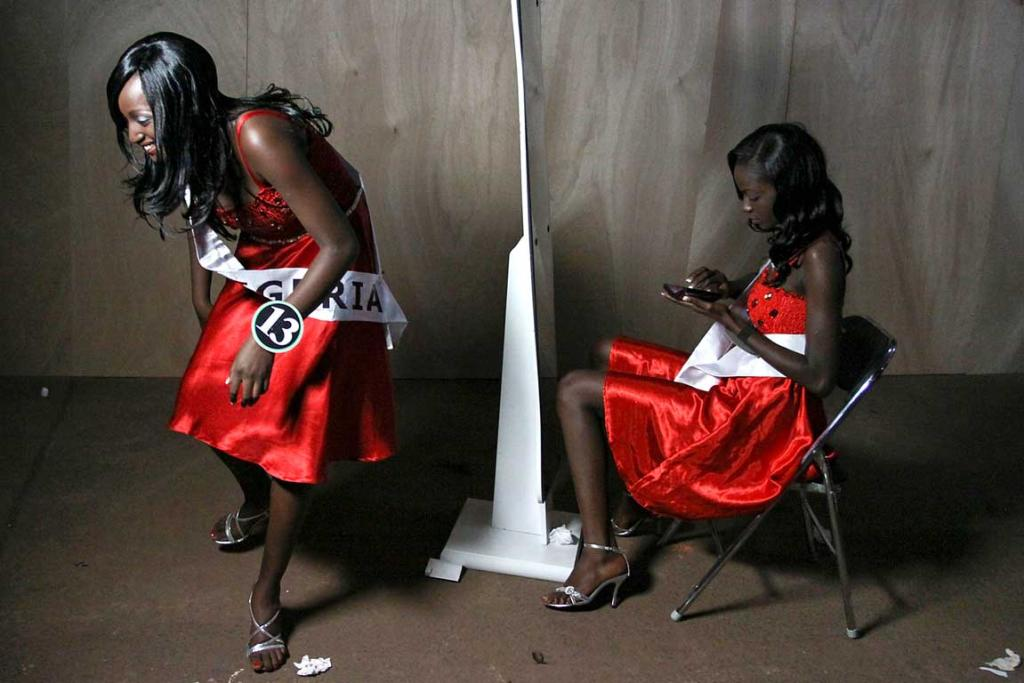 Reuters Images of the Year, photo of competitiors backstage at Miss ECOWAS.