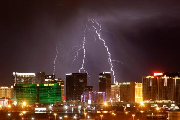 Reuters Images of the Year, photo of Lighting in Las Vegas, Nevada.