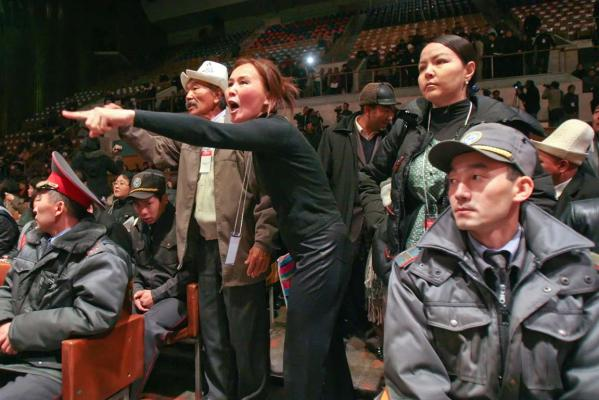 Reuters Images of the Year, photo of people reacting in court.