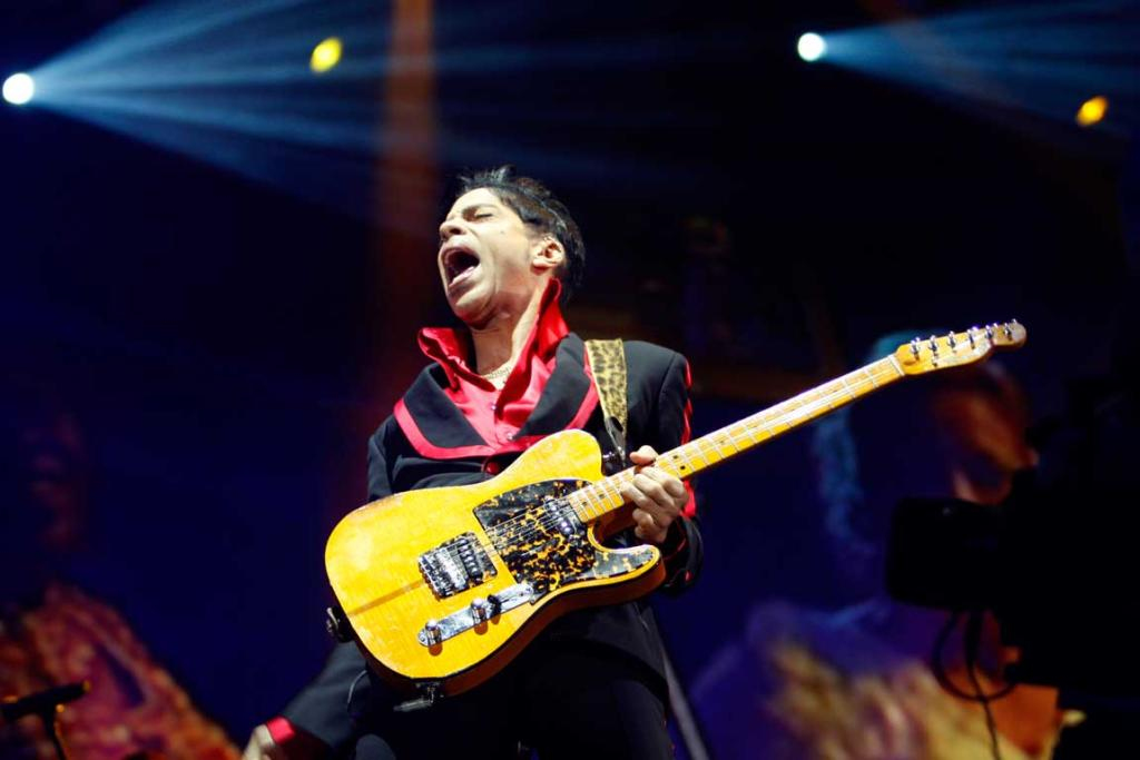 Reuters Images of the Year, photo of Prince performing in Yas Arena on Yas Island.