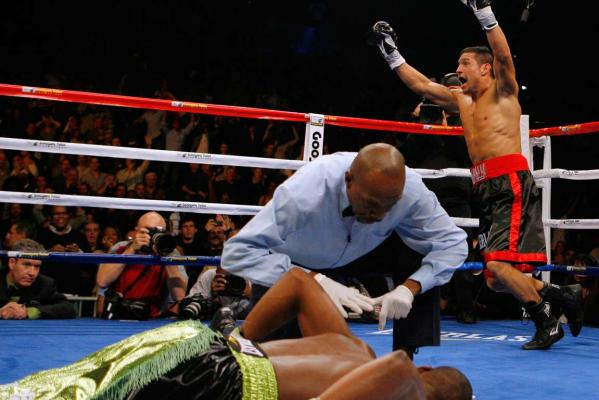 Reuters Images of the Year, photo of Sergio Martinez celebrating a knockout.