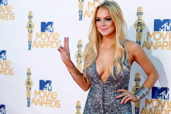 Top entertainment stories - Lindsay Lohan.
