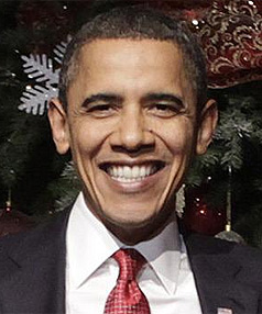 HE DA MAN: Barack Obama has topped the list of Americans' most admired men for the third year running.
