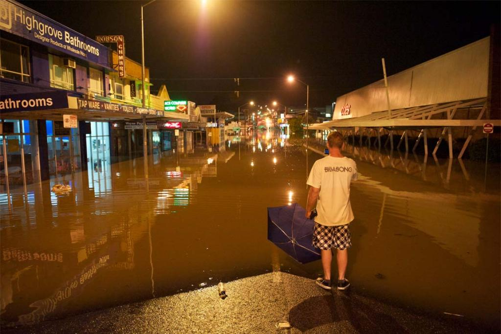 Residents of Ipswich prepare for worst flooding in recent history by evacuating their houses, which are all expected to be submerged.