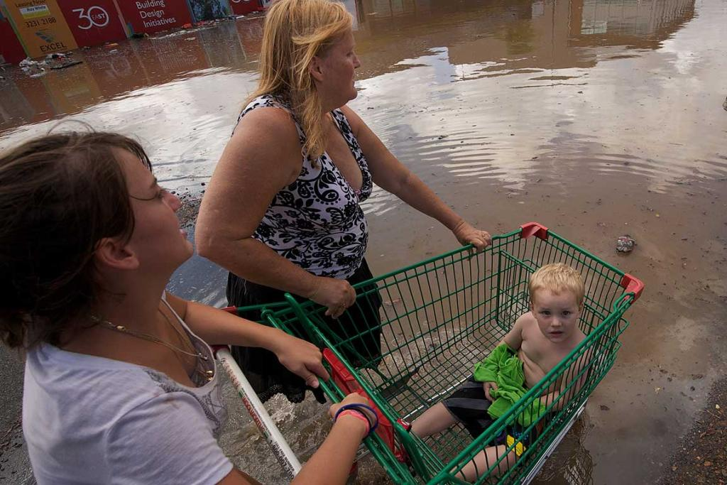 Residents of Ipswich dealing with record flooding .