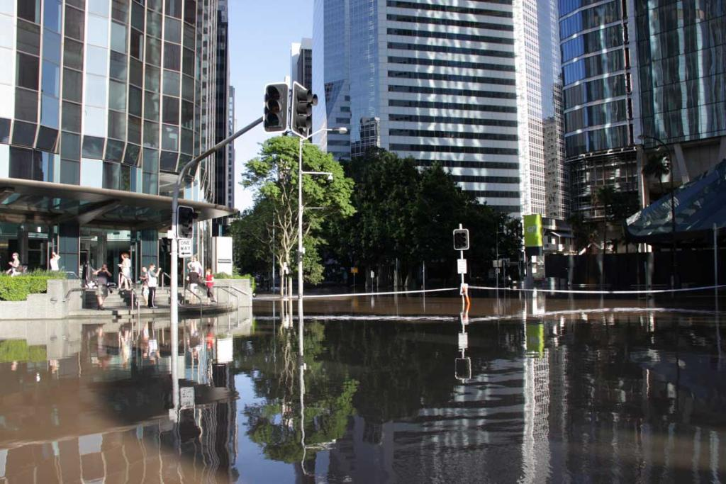 Flooded Brisbane.