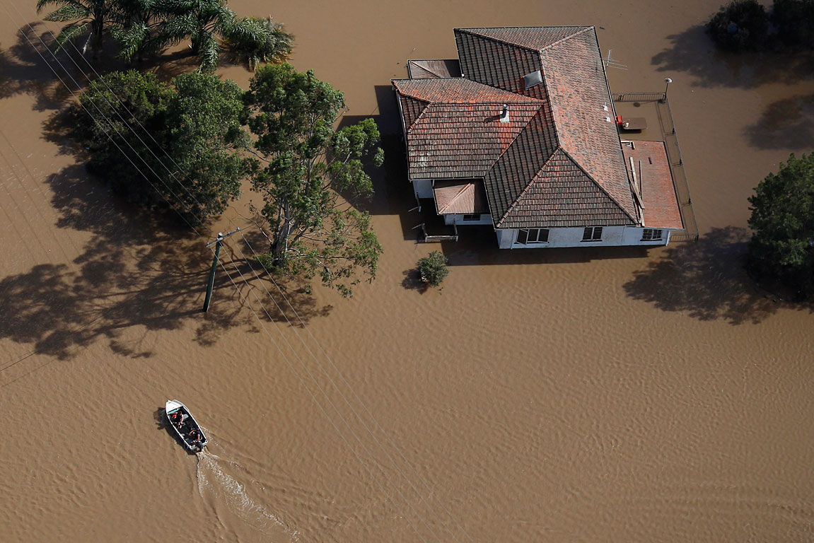 Flooded suburb west of Brisbane