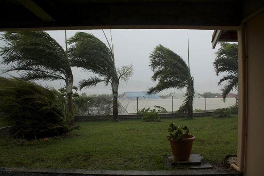 TIMING: Gijs Ochsendorf and Marjolein Appel, from earthquake ravaged Christchurch, were visiting New Caledonia when the cyclone struck.