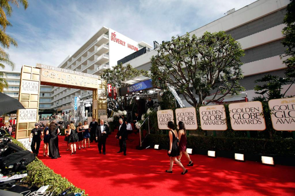 READY TO ROLL: People arrive along the red carpet before the official start of the 68th annual Golden Globe Awards.