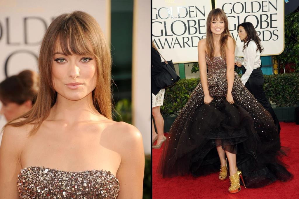 SPARKLING: Actress Olivia Wilde arrives at the 68th Annual Golden Globe Awards.