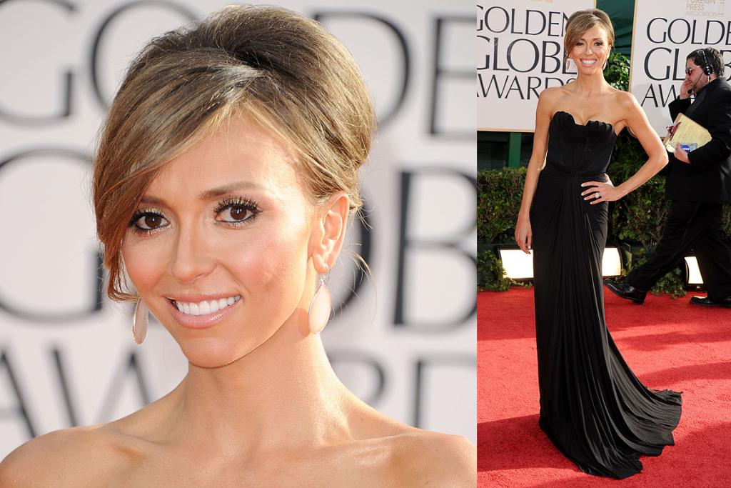 HOST WITH THE MOST: Red carpet host Giuliana Rancic arrives at the 2011 Golden Globe Awards.