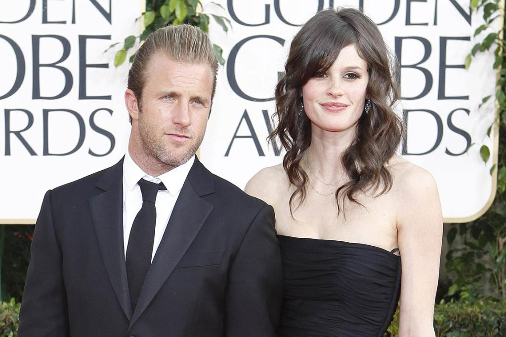 ENTOURAGE: Scott Caan arrives with his girlfriend at the 68th annual Golden Globe Awards in Beverly Hills.