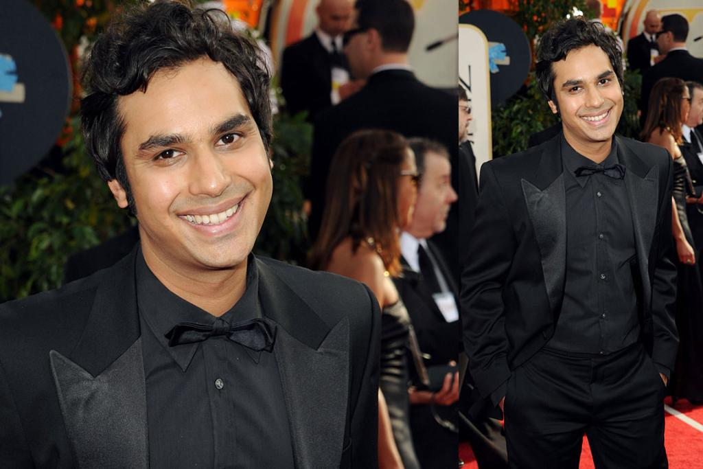 ALL SMILES: Actor Kunal Nayyar from The Big Bang Theory arrives at the 68th Annual Golden Globe Awards