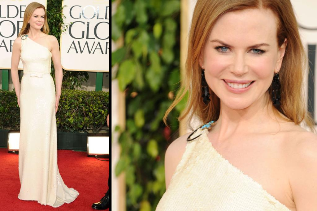 ONE SHOULDERED: Actress Nicole Kidman arrives at the 68th Annual Golden Globe Awards.