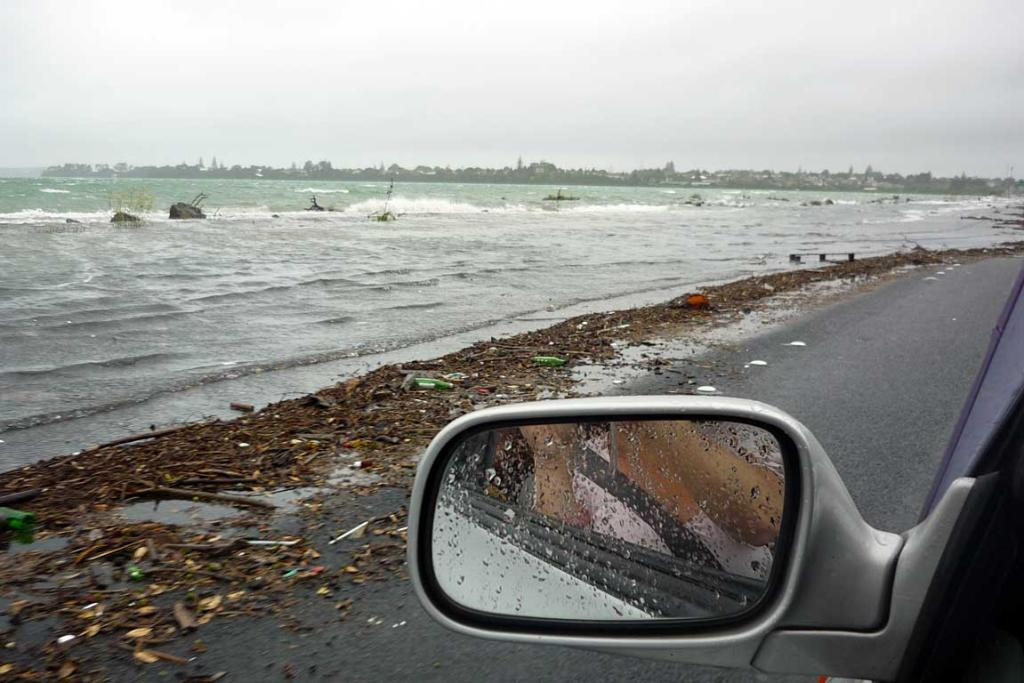 Heading into Auckland on Northwestern motorway this morning.