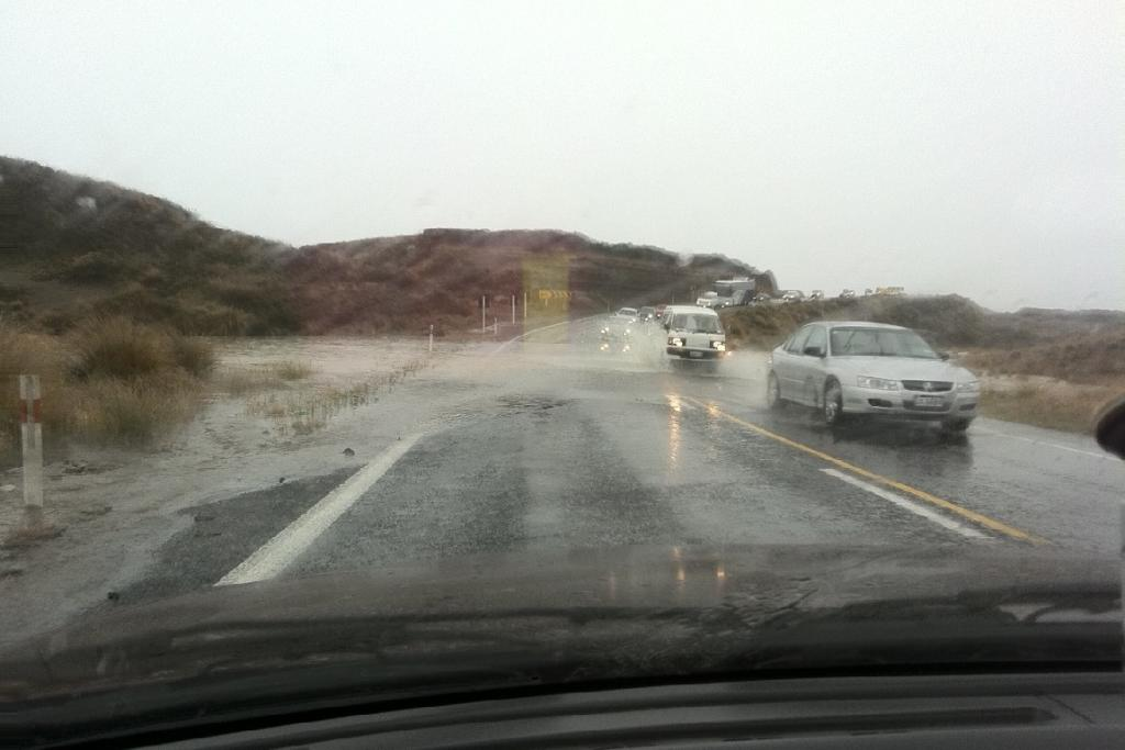 READER PHOTO: Surface flooding is visible on the Desert Road in this picture taken Sunday.