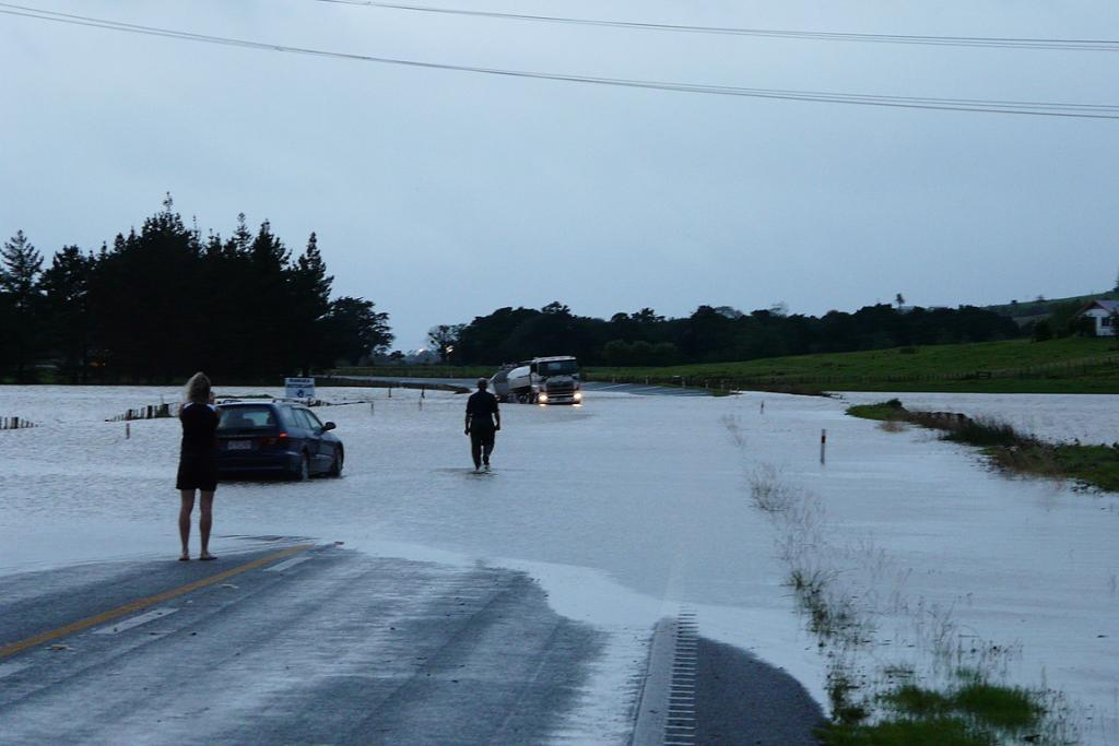 State highway 1 at Mata south of Whangarei early Saturday morning.